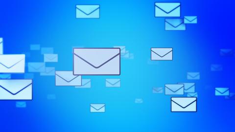 Sending Mails background (Loop) Stock Video Footage