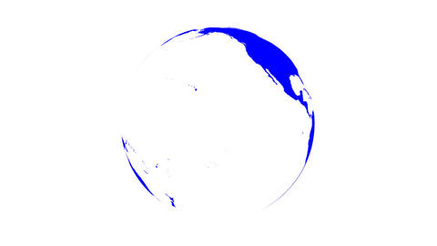 Symbolic Earth Globe Rotating on White (Loop with Matte) Stock Video Footage