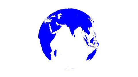 Symbolic Earth Globe Rotating on White (Loop with Matte) Animation