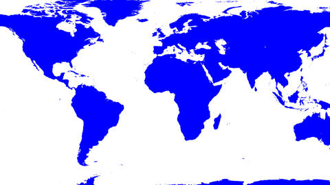 World Map Wraps to Spinning Globe (white background) Stock Video Footage