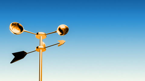 Anemometer Gold (Loop with Luma Matte) Animation