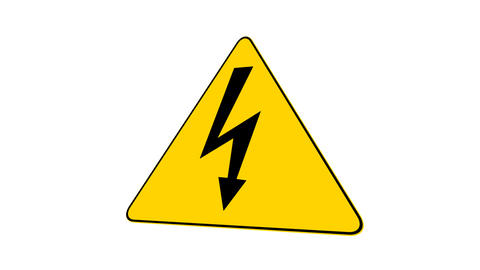 High Voltage Sign (Loop with Matte) Animation
