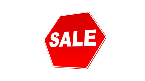 Sale Sign (Loop with Matte) Stock Video Footage