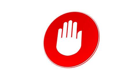 Stop - Halt Sign (Loop with Matte) Stock Video Footage