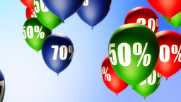 Balloons Sale Percents (Loop) Stock Video Footage