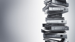Office Binders Stack (Loop) Stock Video Footage
