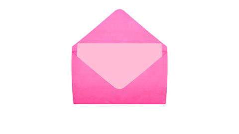 Love Mail Pink Stock Video Footage