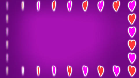 Loopable Rotating Hearts Animation CG動画