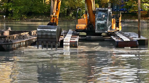 Dredger Stock Video Footage