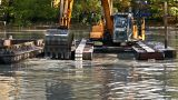 Dredger stock footage