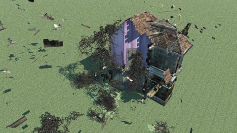 台風・壊れる家 Animation