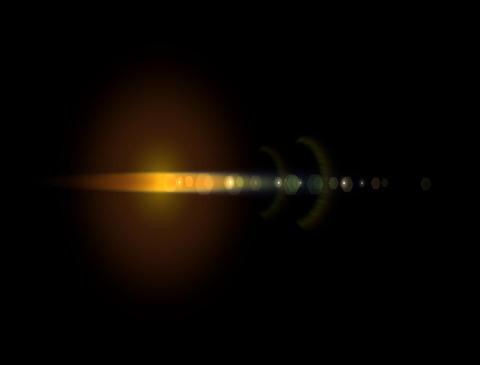 LensFlare28 Stock Video Footage