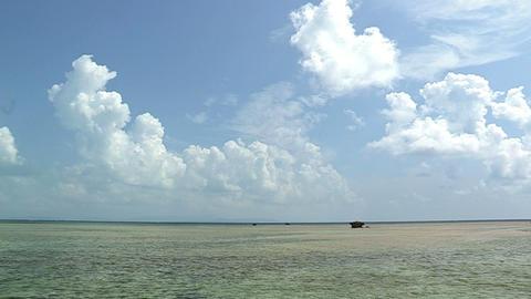 Sea and Horizontal line in Kuroshima island,Okinawa,Japan_1 Stock Video Footage
