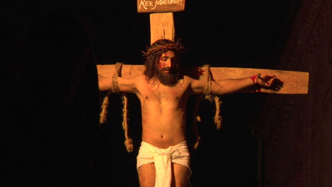 crucifixion 02 Stock Video Footage