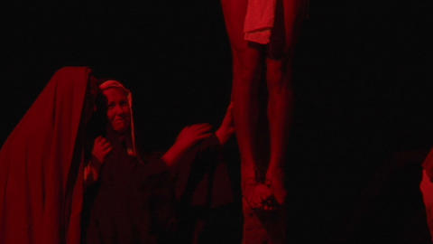 crucifixion dead mary 01 Stock Video Footage