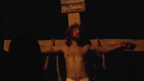 crucifixion death Stock Video Footage
