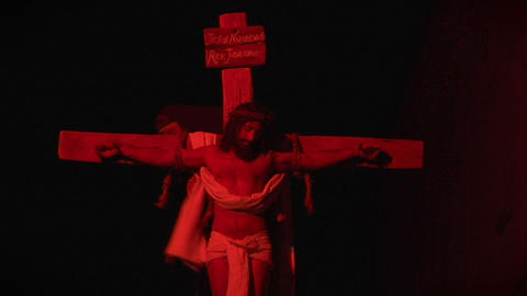 crucifixion deposition 02 Stock Video Footage