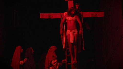 crucifixion deposition 04 Stock Video Footage