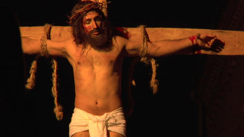 crucifixion mary Stock Video Footage