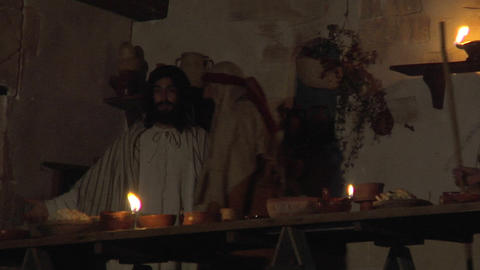 last supper 01 Stock Video Footage