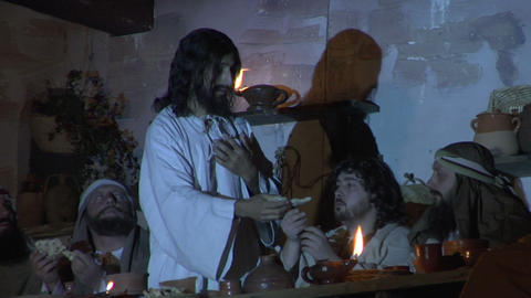last supper bread Stock Video Footage