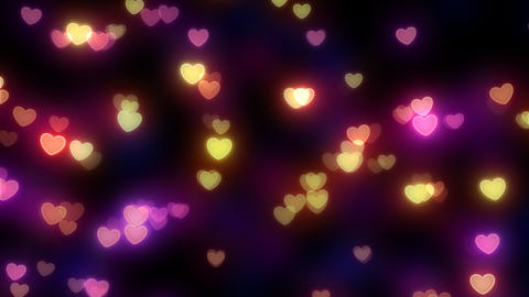 Neon Light Pan Heart A HD Animation