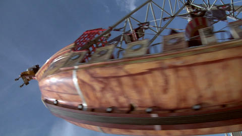 pirate ship slow motion 01 Stock Video Footage
