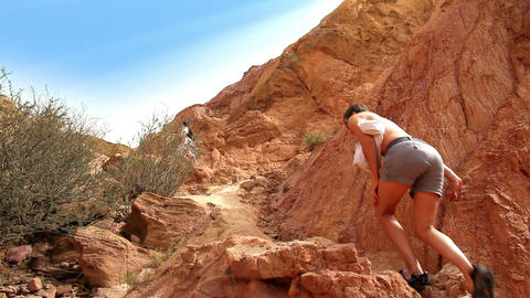 Red Mountains Stock Video Footage