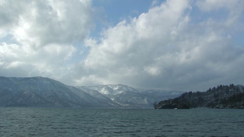 Winter Landscape in Towada Lake, Aomori,Japan_2 Stock Video Footage