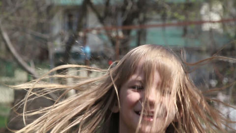 Jumping girl Stock Video Footage