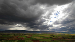Landscape with dramatic clouds, time lapse Stock Video Footage