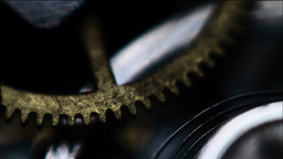 Rotating cogs, detail Stock Video Footage