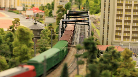 miniature railway Stock Video Footage