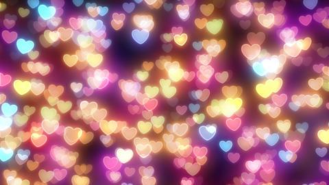 Neon Light Pan Heart F2 HD Stock Video Footage