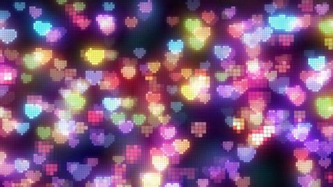 Neon Light Pan Heart H HD Stock Video Footage