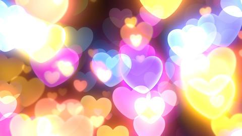 Neon Light Wave Heart E HD Stock Video Footage