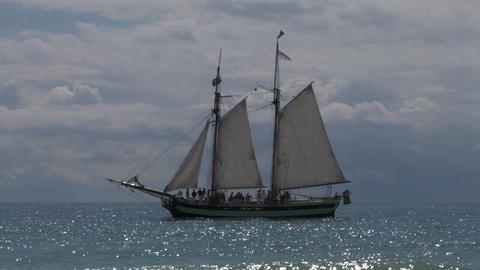 schooner harbor 04 Stock Video Footage
