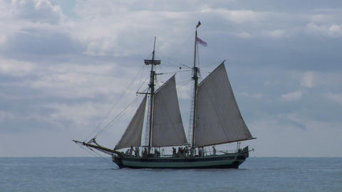 schooner part 2 Stock Video Footage