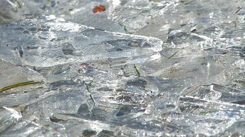 Melting Ice on the Lake,in Towada Lake,Aomori,Japan Stock Video Footage