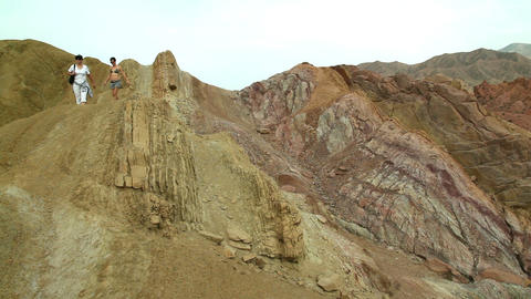 Colored Mountains Stock Video Footage
