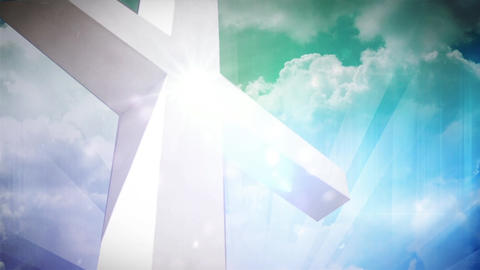 Light of the Cross Stock Video Footage