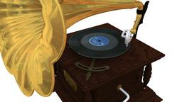 蓄音機 レコードプレーヤー Animation