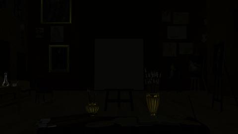 画廊 キャンバス Stock Video Footage