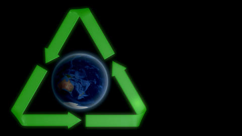 Earth recycle Stock Video Footage
