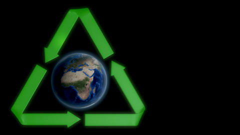 Earth recycle Animation