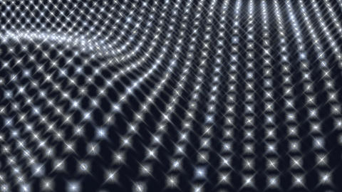Wavy abstract field of lights Stock Video Footage