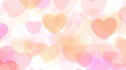 2D Pattern Pan Heart F HD Stock Video Footage