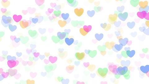 2D Pattern Wave Heart H HD Stock Video Footage