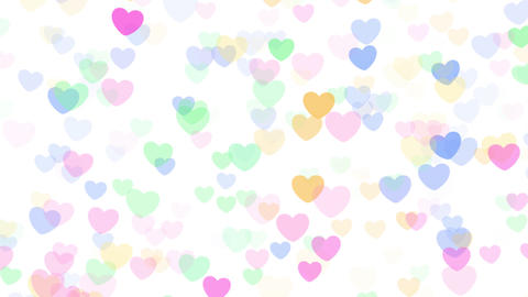 2D Pattern Wave Heart H HD Stock Video Footage