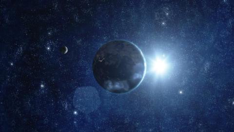 Planet Earth Sunrise 04 Stock Video Footage